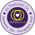 As featured on hitched.co.uk - September 2014 Photography Issue