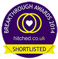 Vote for me in the hitched.co.uk 2014 Breakthrough Awards