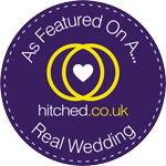 As featured on a hitched.co.uk real wedding
