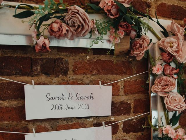 Sarah and Sarah's Wedding in Enfield, East London 118