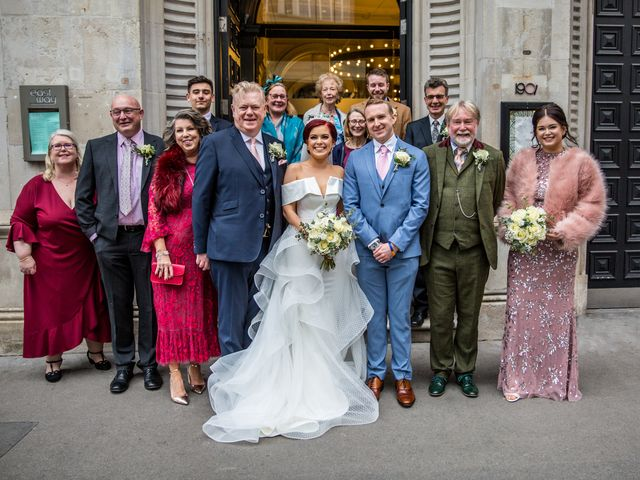 Robbie Jones and Criseyde's Wedding in City of London, East Central London 18