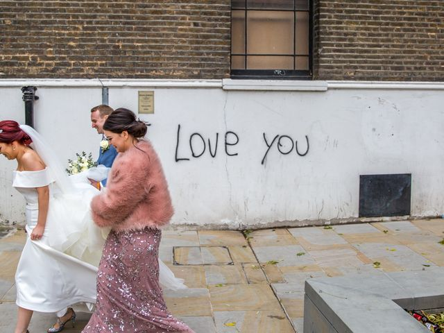 Robbie Jones and Criseyde's Wedding in City of London, East Central London 1