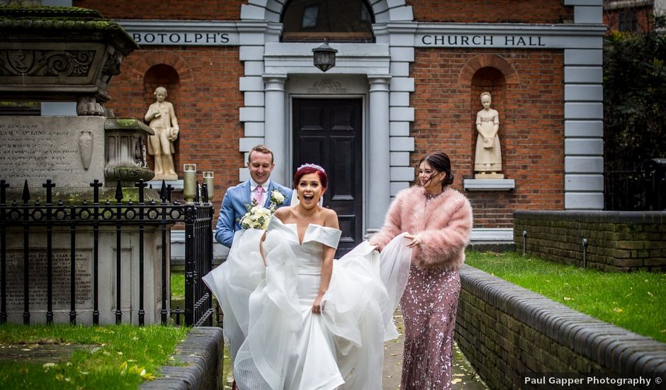 Robbie Jones and Criseyde's Wedding in City of London, East Central London
