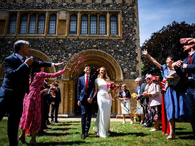 Joel and Emily's Wedding in Canterbury, Kent 63