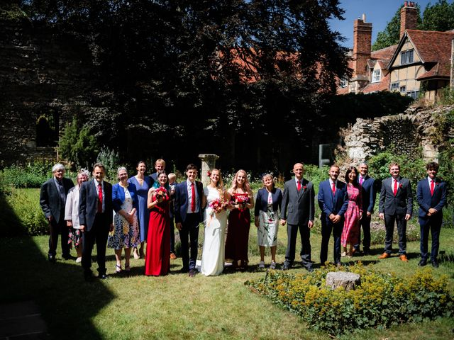Joel and Emily's Wedding in Canterbury, Kent 64