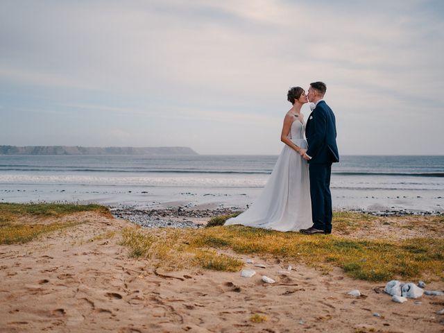 Geraint and Chloe's Wedding in Oxwich, Swansea 1