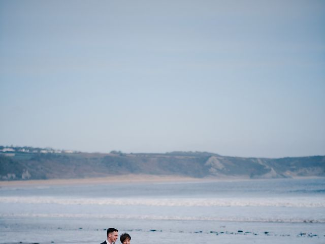 Geraint and Chloe's Wedding in Oxwich, Swansea 2