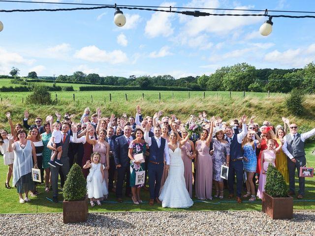 Daniel and Rebecca's Wedding in Wrexham, Cheshire 97