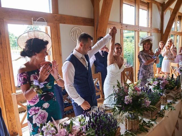 Daniel and Rebecca's Wedding in Wrexham, Cheshire 101