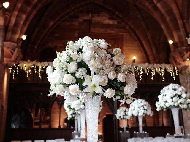 Anthony and Stephanie's Wedding in Peckforton, Cheshire 15