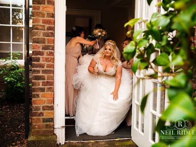 Lee and Holly's Wedding in Mottram St. Andrew, Cheshire 16
