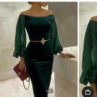 Dark Green Velvet Bridesmaid Dresses - uk - 4