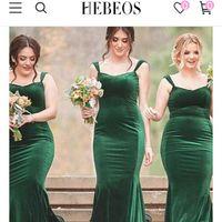 Dark Green Velvet Bridesmaid Dresses - uk - 1