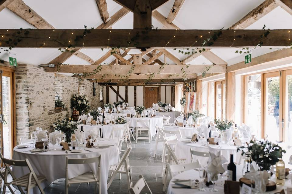Vaulted wooden beams