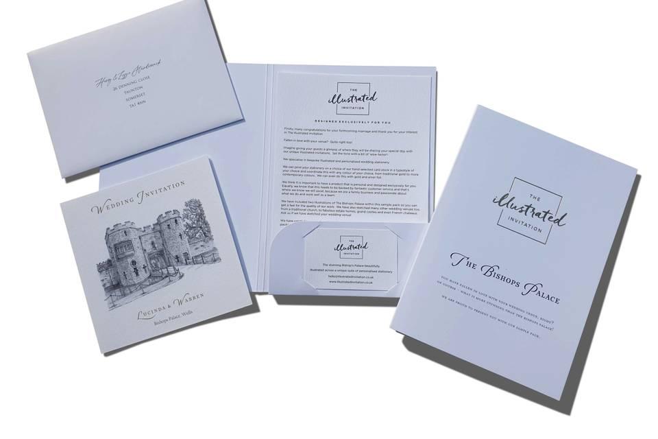 Sample pack of wedding suites