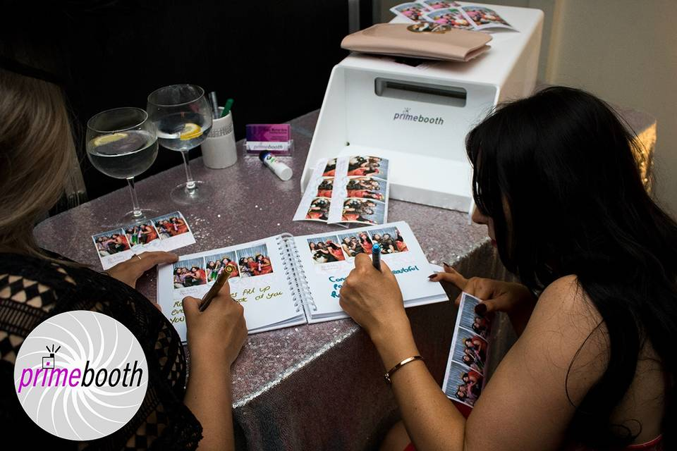 Instant prints and guestbook