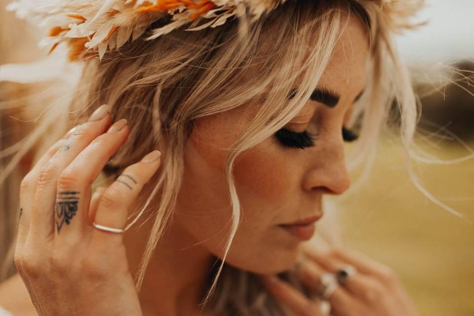 Athena Dried flower crown