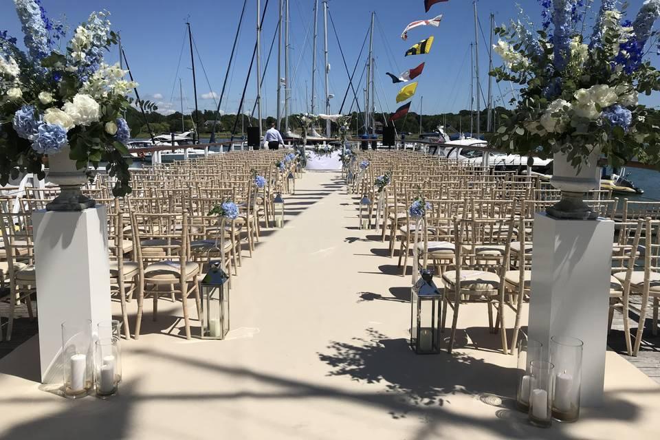 Waterfront ceremony