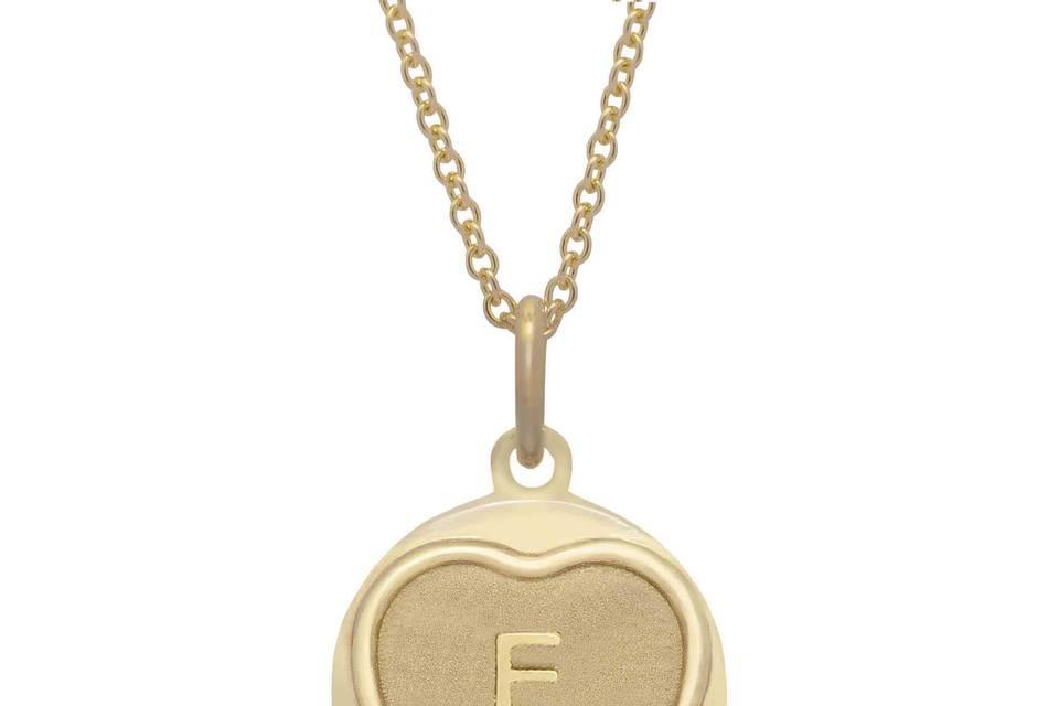 Initial love hearts pendant