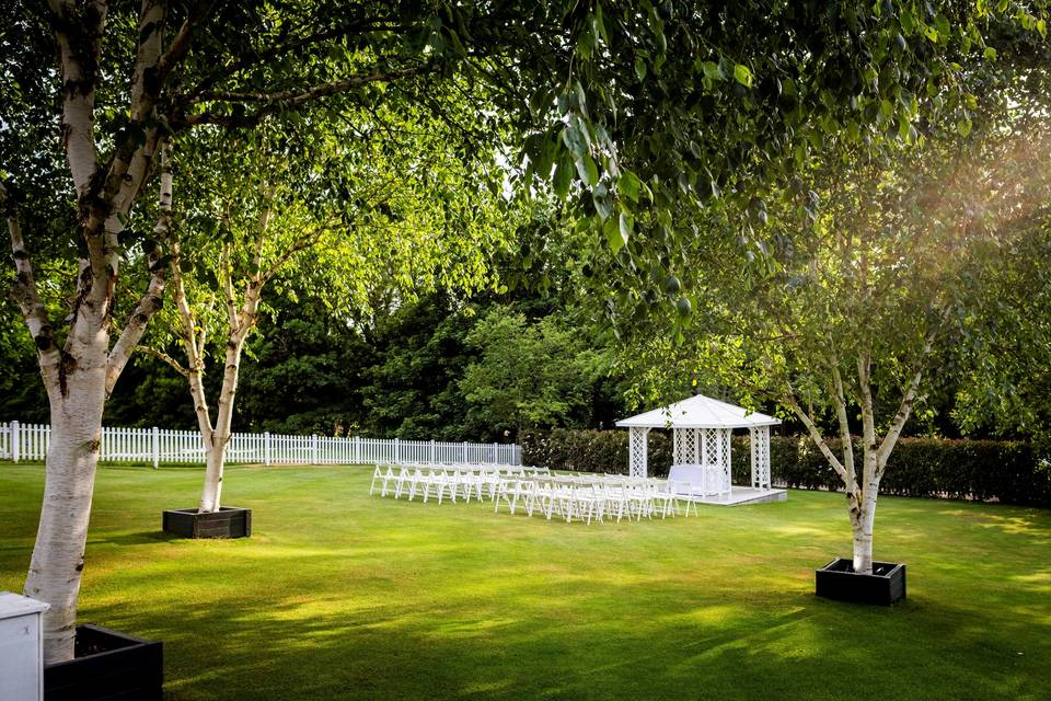 Wedding Garden set for a ceremony