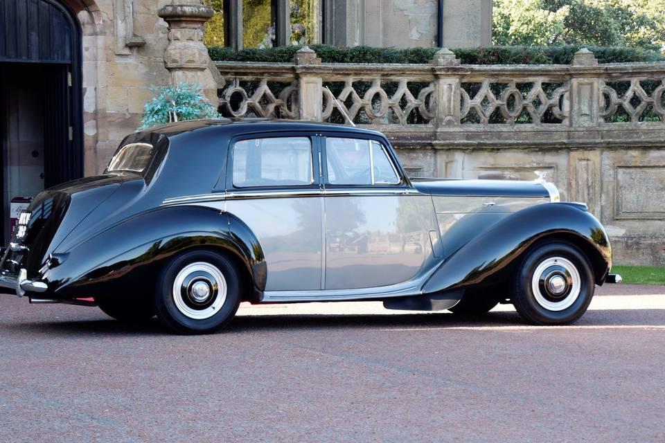 Black over Silver Bentley