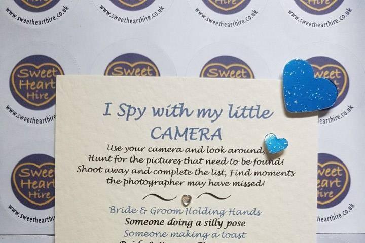 I spy Camera photo signs