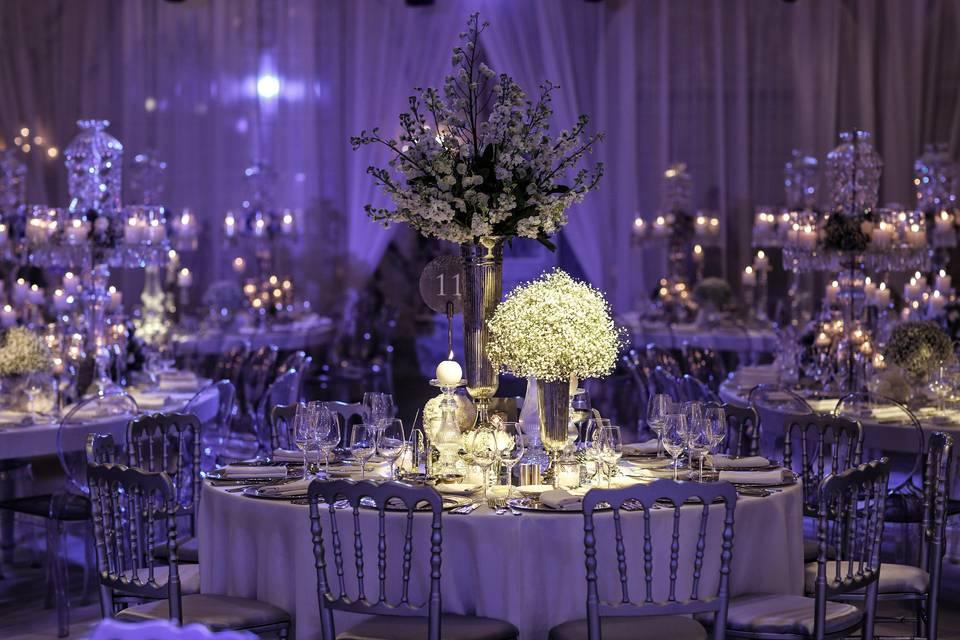 Evening Marquee Wedding Set Up