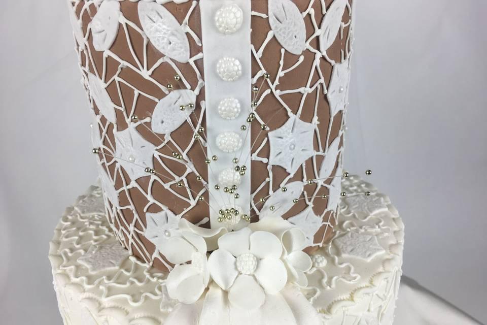 Wedding dress cake design