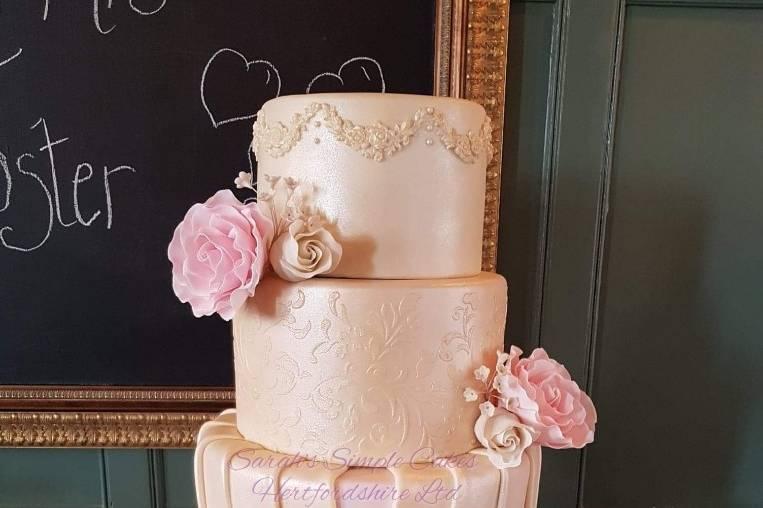 Three-tier cake