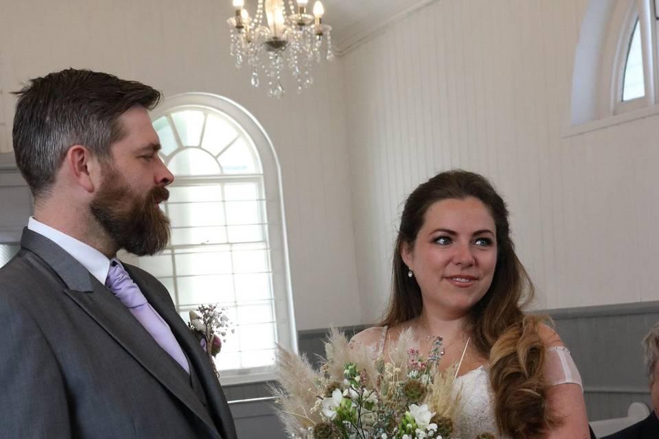 Wedding inside the chapel