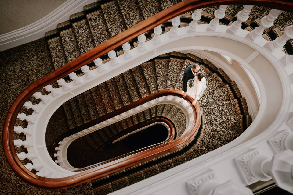 Couple on the stairs - BSC Weddings