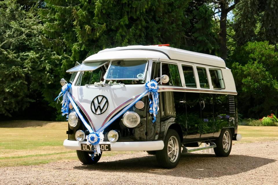 VW Black Betty Wedding Hire Campervan