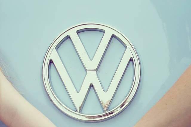 VW Camper van in blue/cream