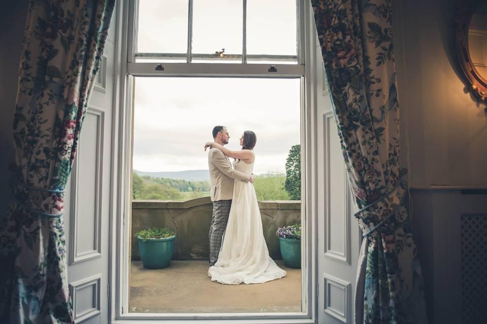 Bridal suite balcony
