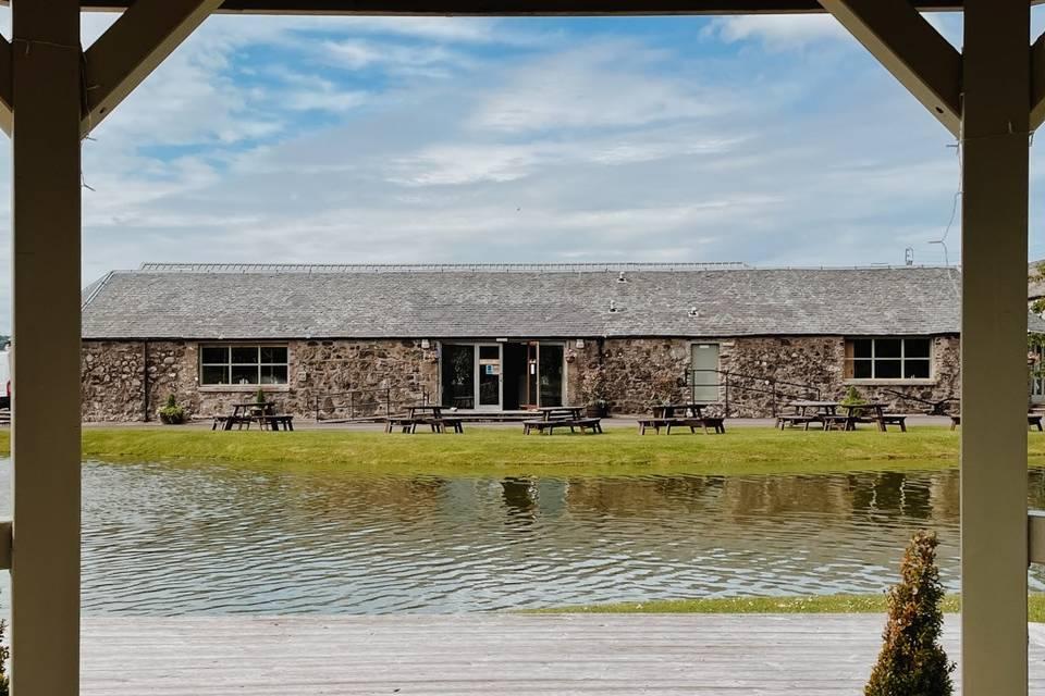 Bachilton Barn from the Gazebo