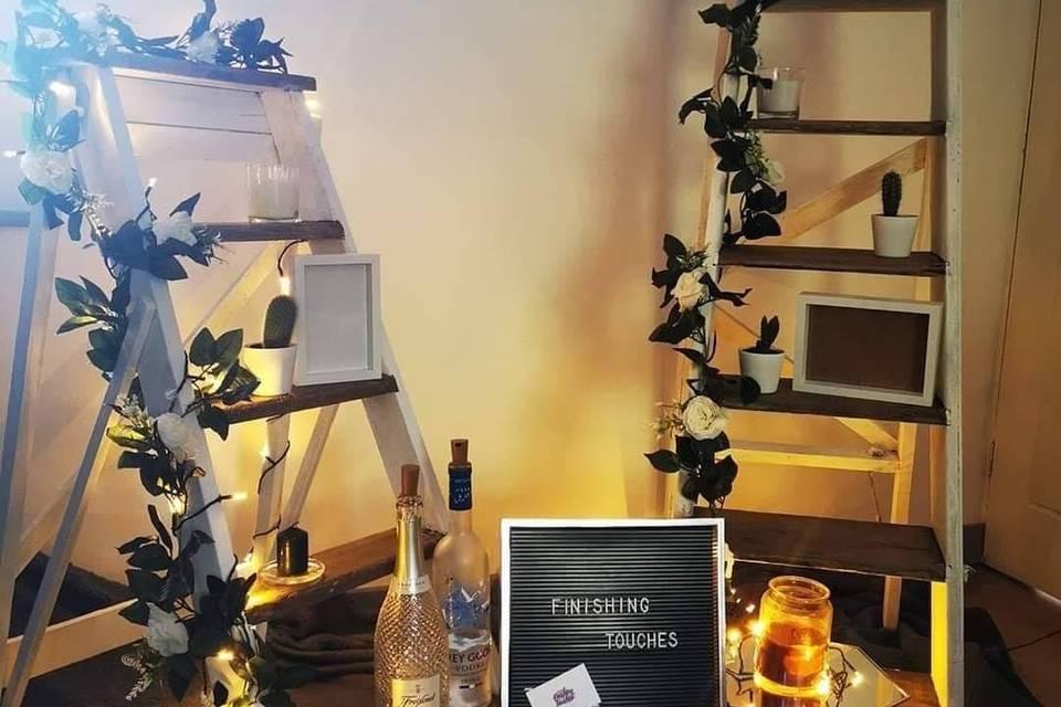 Rustic decorative ladders