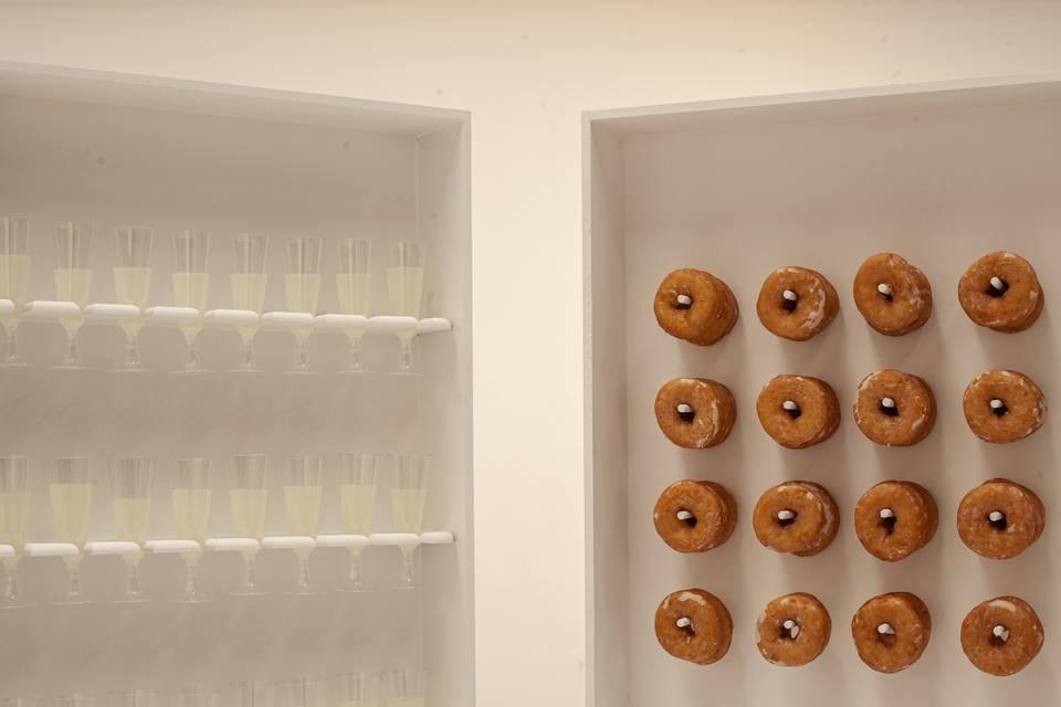 Prosecco and doughnuts