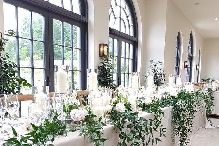 Flossy Pots event styling