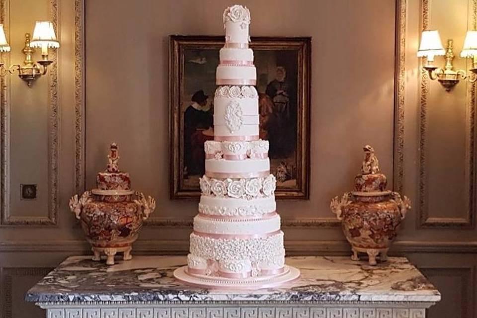 Towering cake