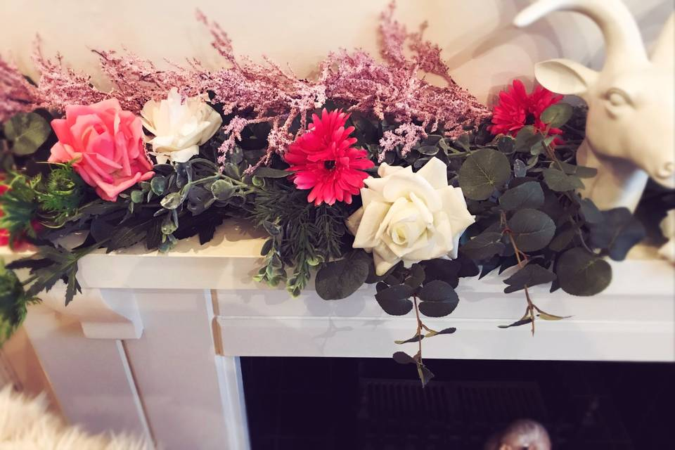 Candy Cane Faux Garland