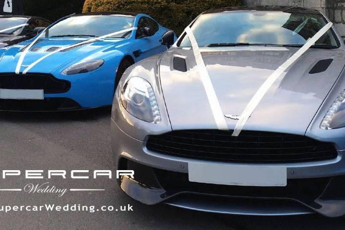 Supercar Wedding Hire Aston Ma