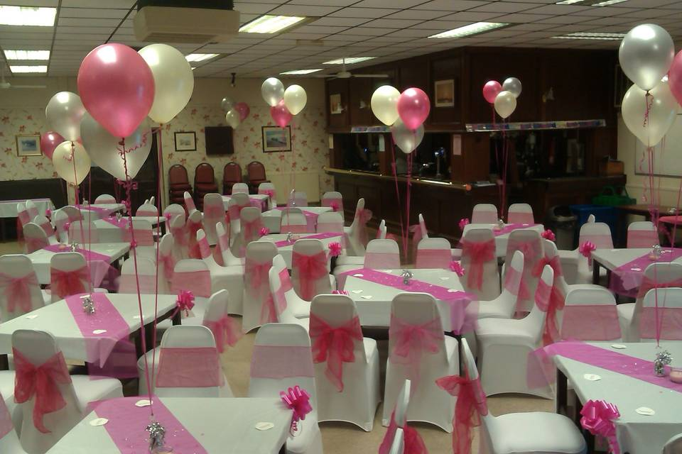 Wedding decorations in pink