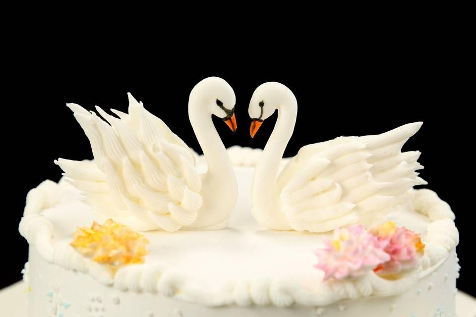 Royal Iced Swans