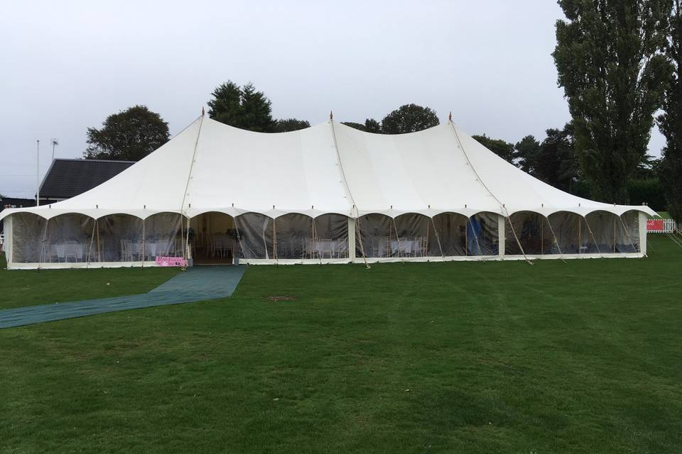 12m marquee with panoramic windows