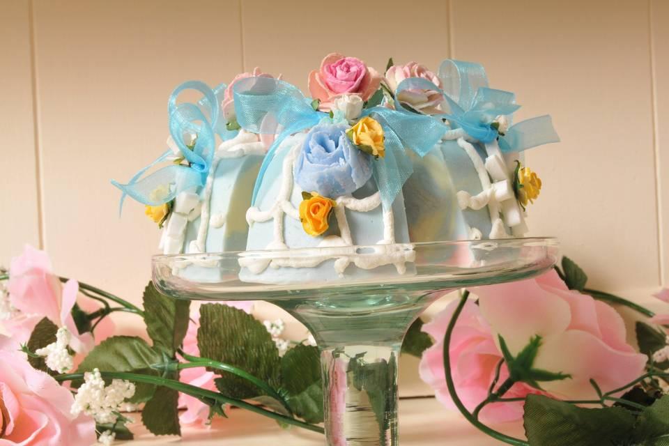Wedding bomboniera soap favour
