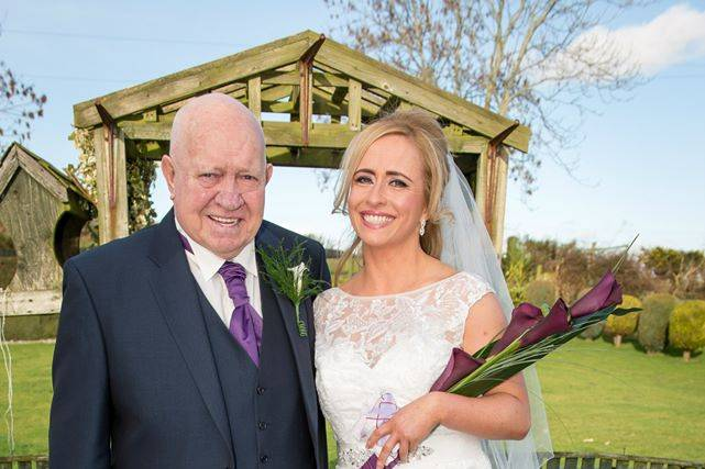 Bride with her father pre-weds