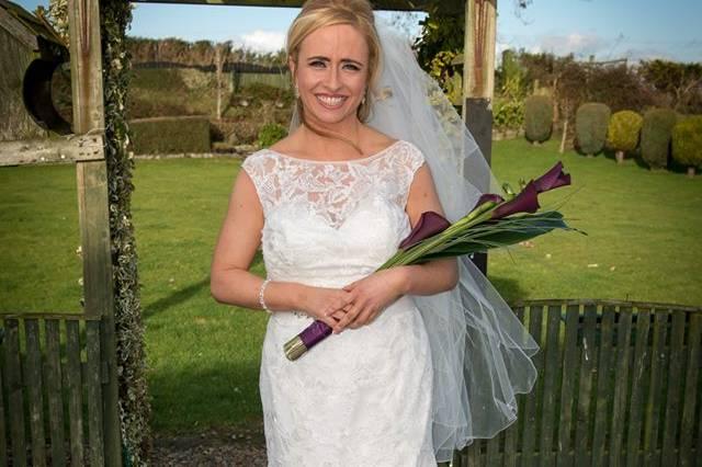 The bride at home pre-wedding
