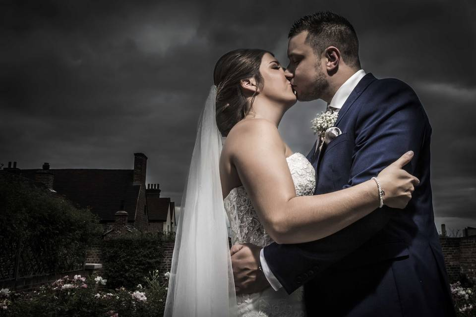 Newlyweds kissing - Visions of View