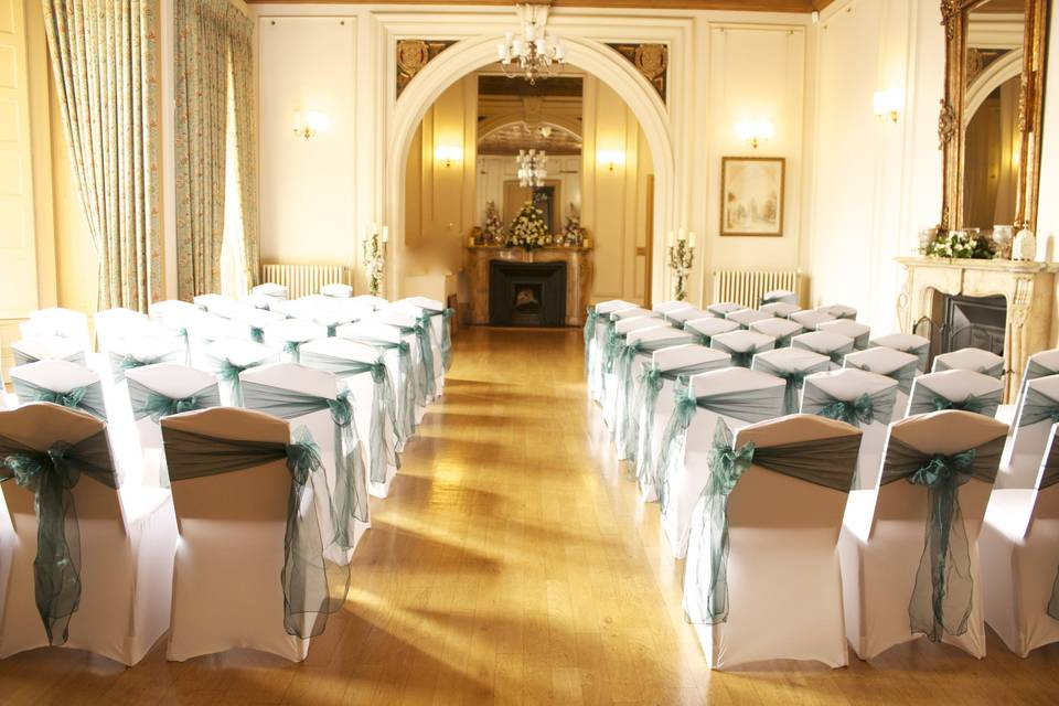 Wedding Ceremony Set Up at Brownlow House