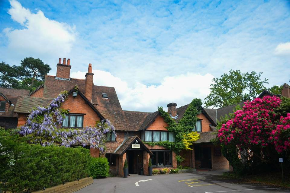 Front view of The Casa Hotel in Hampshire